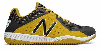 Black Turf Baseball Shoes - New Balance Low-Cut 4040V4 Turf Baseball Cleat Mens Shoes Yellow With Black