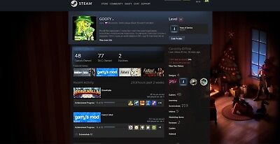 steam account Level 10 steam account with 36 paid for games with one VAC (Ban Account)