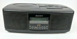 Sony ICF-CD810 AM/FM Stereo CD Player Clock Radio Dual Alarm Tested Working Vtg