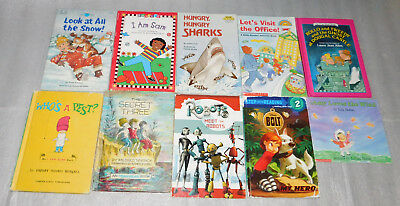 Easy Reader Snow Sharks Ghost Castle Robot Weather Learning Read Books Lot 10