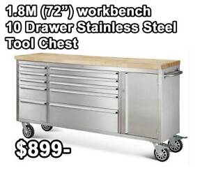 Stainless steel workbench trolley Banyo Brisbane North East Preview