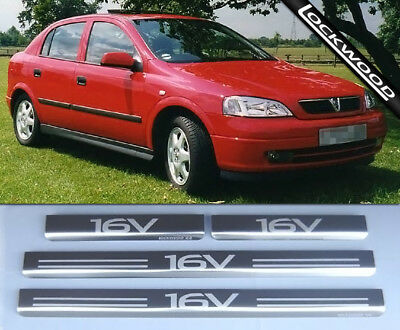Vauxhall Astra 'G' (Mk4) '16V' 4 Door Stainless Sill Protectors  / Kick plates
