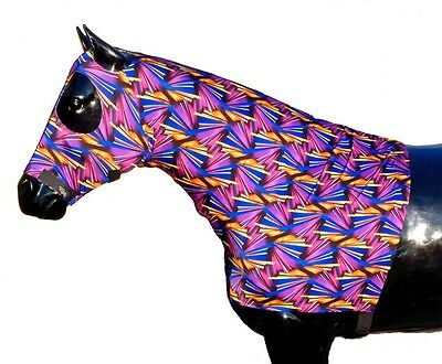 Showman XL Size BLACK Braid Keeper Form Fitting Horse Hood//Sleezie HORSE TACK!