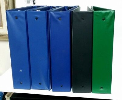 Office Depot Blue 3-ring Binder 2 Ring - Lot Of 8 Binders Used Lot Black Green