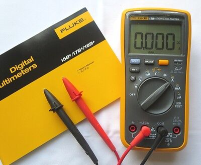Usa Seller Fluke Digital Multimeter F18b Led Tester 18b Voltmeter W Free Case