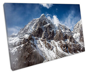 MOUNT EVEREST CANVAS WALL ART PICTURE LARGE 75 X 50 CM