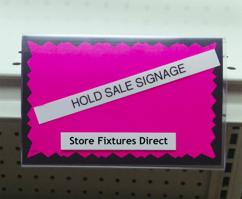 """Clear Plastic Insert Sign Holder for Gondola Shelving 3.5"""" x 5.5"""" - 10 pieces"""