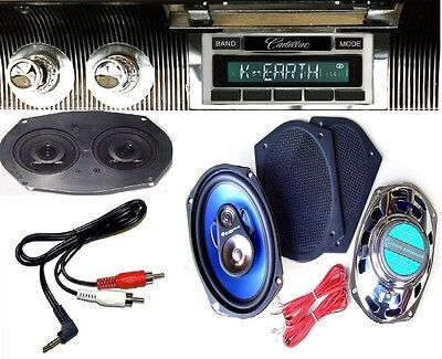 1967-1968 Cadillac Radio + Stereo Dash Replacement Speaker + 6x9's *230