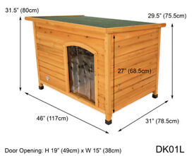 Dog Kennel - Large. Could be used as cat house or tortoise house also. NEW