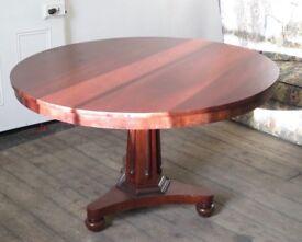 ANTIQUE MAHOGANY SWIVEL TABLE