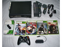Xbox 360 elite 120 gb with wireless controller, games and more!!!