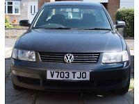 Volkswagen Passat, black, diesel, Year 1999, No MOT