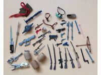 Star Wars And Action Man Accessories Lot