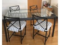 Dining table in immaculate as good as new condition with 4 chairs