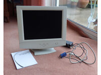 "REDUCED - 15"" Colour Flat Screen Computer Monitor in working order"