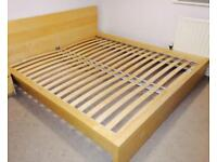 Ikea Malm double bed with mattress