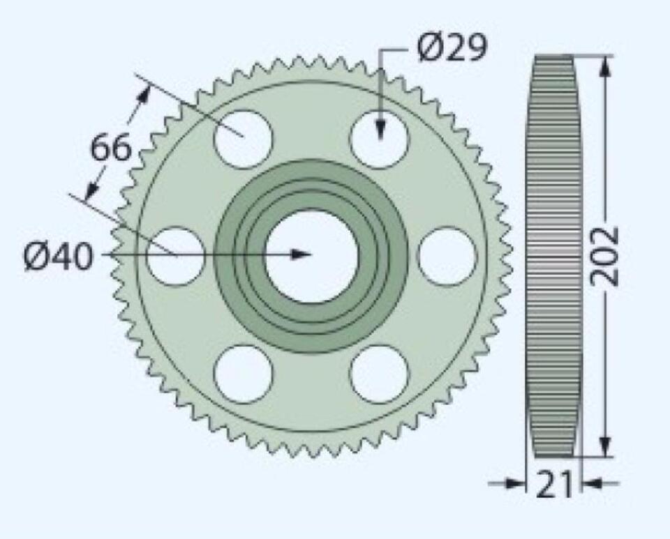 Stirnrad z=59 für Krone Mähwerk AM 167, 202, 282, 322, 403, etc. in Hamersen