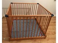 John Lewis wooden playpen- used, good condition