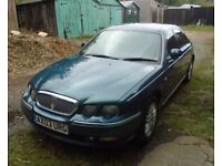 Rover 75 Saloon, Blue.
