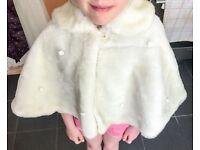 Girls fur cape