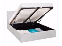 Brand New Double/Single/King Ottoman Storage Leather Bed With Semi Orthopedic Mattress!Free Delivery