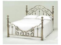 Florence - Metallic Brass Bed - FREE DELIVERY