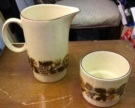 Poole England Thistlewood Vintage Retro Ceramic Water Jug Cup Ornament