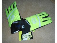 Mens Optimum Waterproof Thick Winter Gloves in Fluro Green. Size: Small