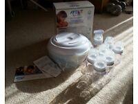 NEW Avent Bottle Steriliser pack includes 7 bottles with teat
