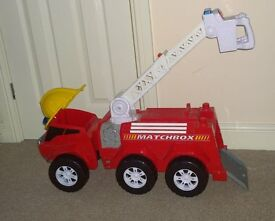 giant matchbox fire engine with lights sounds storage