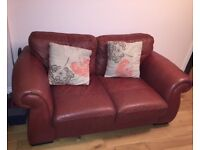 Leather two seater sofa for sale