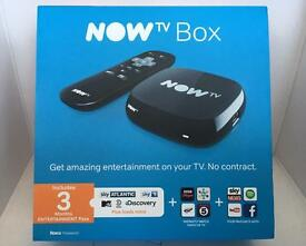 """NOW TV Box with 3 Months Entertainment Pass """"Brand New, Sealed"""""""