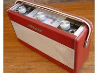 Roberts 1960's vintage RIC1 Portable Transistor Radio in Red