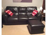 Chocolate brown 2 & 3 seater sofa set