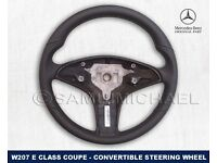 MERCEDES LEATHER STEERING WHEEL E CLASS W207 COUPE & CONVERTIBLE BRAND NEW