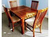 Dining Table & 4 Upholstered Chairs