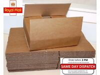 Box 12x9x2.6 inch 25 Boxes Single Wall Parcel Royal Mail small Size Parcel Shipping Posting