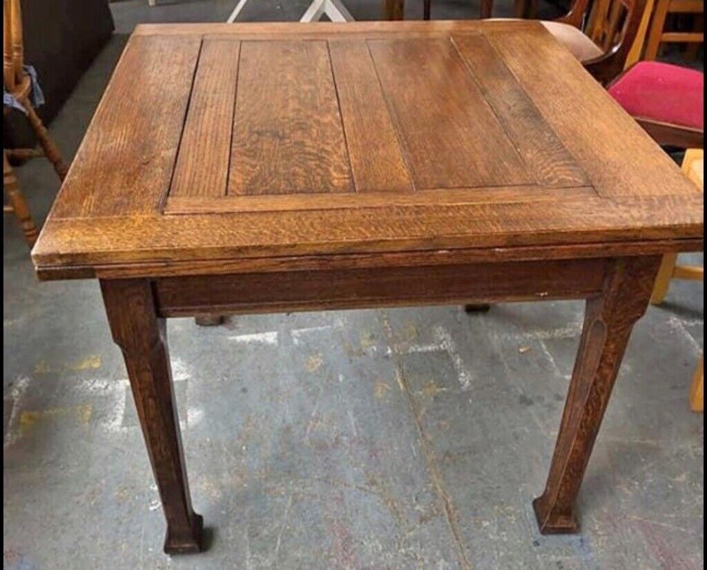 Awesome Vintage Oak Table Measures 36X37 And Leaves Are 12 Wide Each Sturdy And In Great Condition In Millisle County Down Gumtree Andrewgaddart Wooden Chair Designs For Living Room Andrewgaddartcom