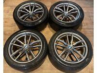 18'' GENUINE BMW G30 G31 5 SERIES M SPORT 662 ALLOY WHEELS TYRES ALLOYS 5X112