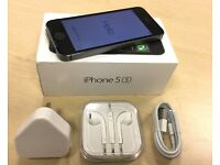 ***GRADE A *** Boxed Space Grey Apple iPhone 5S 16GB Factory Unlocked Mobile Phone + Warranty