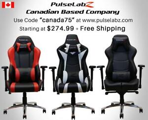 "Pulselabz Gaming Chairs l Canadian Company l Starting at $274.99 + Free Shipping +10 Year Warranty | Use code ""canada75"""