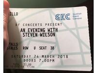 STEVEN WILSON - CLYDE AUDITORIUM - Stalls ticket