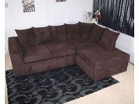Chocolate Brown Corner Sofa