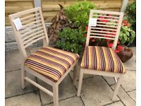 Pair Of Washed Oak Dining Chairs, Not Used !
