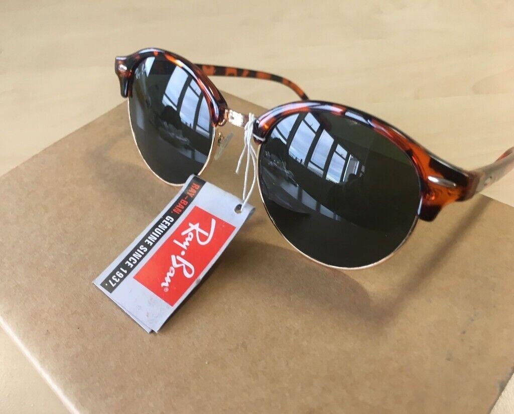 8e45d415e RAY-BAN Clubround sunglasses tortoiseshell / havana black gold clubmaster  round half mens unisex