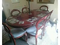 MAHOGONY 6 SEATER DINING TABLE