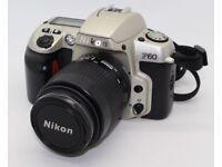 NIKON F60 35mm SLR Camera With Nikon AF Nikkor 35-80mm f/4.0-5.6 D lens