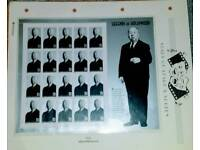 RARE SUPERB ALFRED HITCHCOCK UNCUT STAMP SHEET. CAN POST. ☺