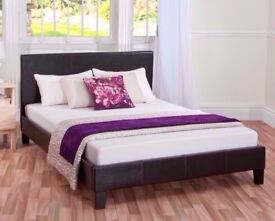 🔴🔵BEST SELLER🔴BRAND NEW DOUBLE AND KINGSIZE LEATHER BED WITH ORTHOPEDIC MATTRESSES