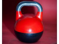 Brand New up to 32kg adjustable cast iron competition kettlebell, kettlebell